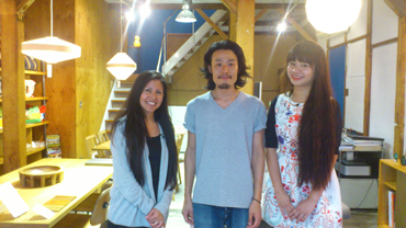 "A snap taken at a modernistic interior selling shop called ""MEISTER"", which was remodeled from an authentic Japanese-style house. The person in the center is the store manager, Mr. Satoshi Kinoshita."